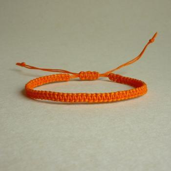 Simple Single Line Orange Friendship Bracelet / Wristband - Customized Bracelet - Gift under 5 - Adjustable Bracelet
